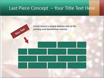 Christmas or New Year Gift. Surprised Woman PowerPoint Template - Slide 46