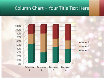 Christmas or New Year Gift. Surprised Woman PowerPoint Templates - Slide 50