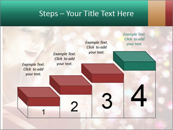 Christmas or New Year Gift. Surprised Woman PowerPoint Template - Slide 64