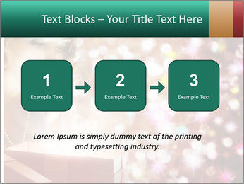 Christmas or New Year Gift. Surprised Woman PowerPoint Template - Slide 71