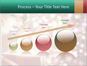 Christmas or New Year Gift. Surprised Woman PowerPoint Template - Slide 87