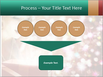 Christmas or New Year Gift. Surprised Woman PowerPoint Template - Slide 93