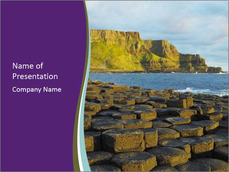 Giant's Causeway,Northern Ireland PowerPoint Template