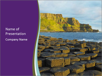 Giant's Causeway,Northern Ireland PowerPoint Templates - Slide 1