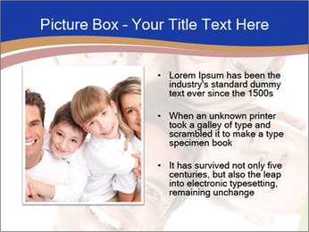Happy family. Father, mother and children. PowerPoint Template - Slide 13
