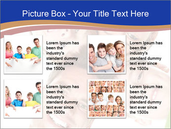 Happy family. Father, mother and children. PowerPoint Template - Slide 14