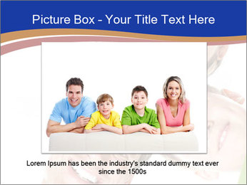 Happy family. Father, mother and children. PowerPoint Template - Slide 15