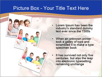 Happy family. Father, mother and children. PowerPoint Templates - Slide 17