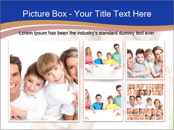 Happy family. Father, mother and children. PowerPoint Template - Slide 19