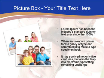 Happy family. Father, mother and children. PowerPoint Template - Slide 20