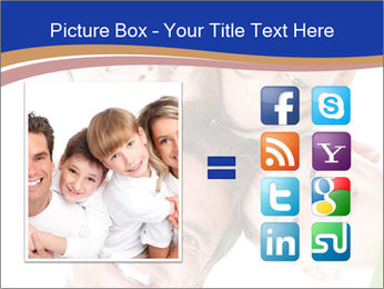 Happy family. Father, mother and children. PowerPoint Template - Slide 21