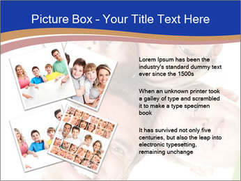Happy family. Father, mother and children. PowerPoint Template - Slide 23