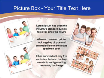 Happy family. Father, mother and children. PowerPoint Template - Slide 24