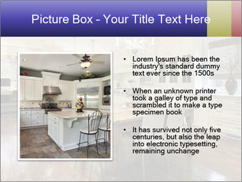 Kitchen in luxury home with white cabinetry PowerPoint Template - Slide 13