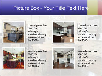 Kitchen in luxury home with white cabinetry PowerPoint Template - Slide 14