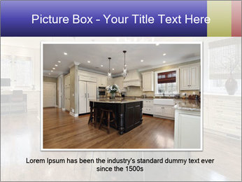 Kitchen in luxury home with white cabinetry PowerPoint Templates - Slide 15