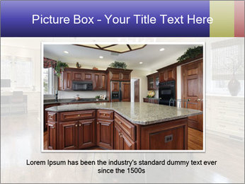 Kitchen in luxury home with white cabinetry PowerPoint Templates - Slide 16
