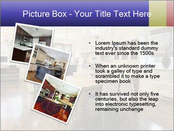Kitchen in luxury home with white cabinetry PowerPoint Template - Slide 17