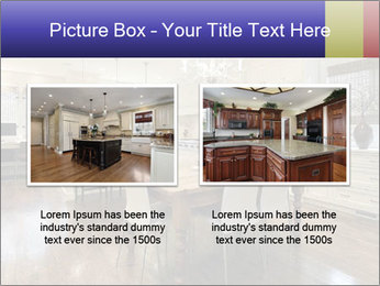 Kitchen in luxury home with white cabinetry PowerPoint Template - Slide 18