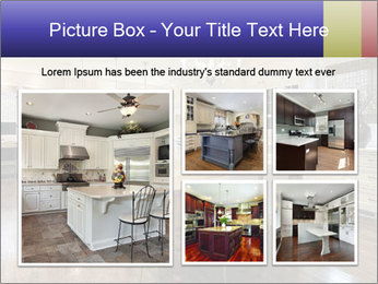 Kitchen in luxury home with white cabinetry PowerPoint Template - Slide 19