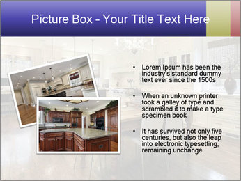 Kitchen in luxury home with white cabinetry PowerPoint Template - Slide 20