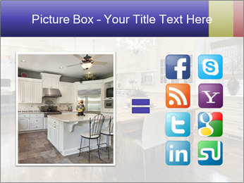 Kitchen in luxury home with white cabinetry PowerPoint Template - Slide 21