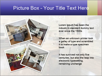 Kitchen in luxury home with white cabinetry PowerPoint Template - Slide 23