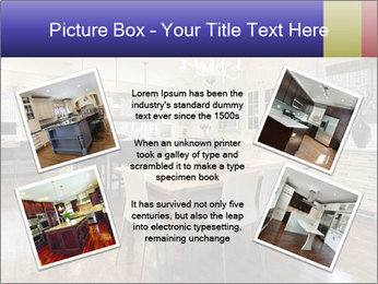 Kitchen in luxury home with white cabinetry PowerPoint Template - Slide 24