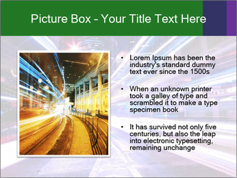 Modern city at night PowerPoint Template - Slide 13