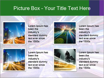 Modern city at night PowerPoint Template - Slide 14