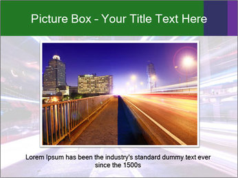 Modern city at night PowerPoint Template - Slide 16