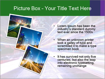Modern city at night PowerPoint Template - Slide 17