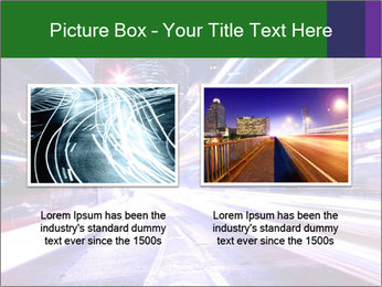 Modern city at night PowerPoint Template - Slide 18