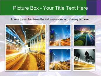 Modern city at night PowerPoint Template - Slide 19