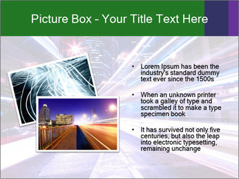 Modern city at night PowerPoint Template - Slide 20