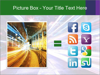 Modern city at night PowerPoint Template - Slide 21