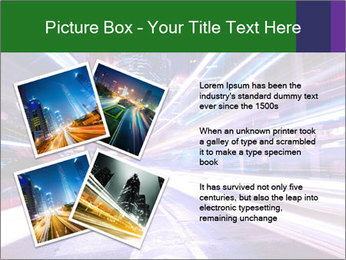 Modern city at night PowerPoint Template - Slide 23