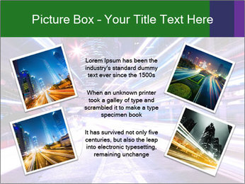 Modern city at night PowerPoint Template - Slide 24