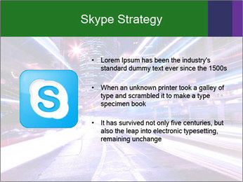 Modern city at night PowerPoint Template - Slide 8