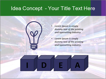 Modern city at night PowerPoint Template - Slide 80