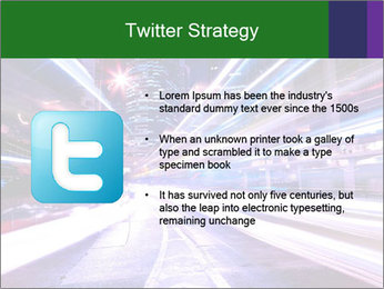 Modern city at night PowerPoint Template - Slide 9