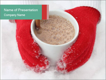 Hands in the cold PowerPoint Template