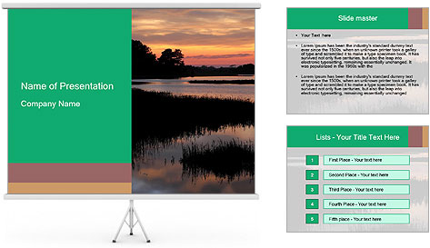 Chincoteague Sunrise Vertical With Copy Space PowerPoint Template