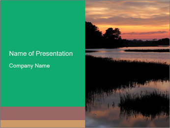 Chincoteague Sunrise Vertical With Copy Space PowerPoint Template - Slide 1