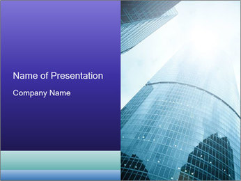 Business skyscrapers of downtown PowerPoint Template - Slide 1