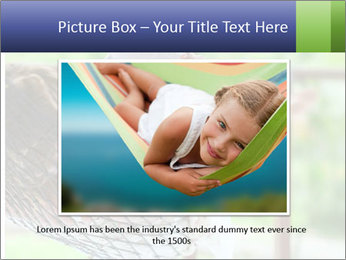 Young woman reading a book lying in hammock PowerPoint Templates - Slide 15
