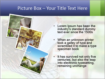 Young woman reading a book lying in hammock PowerPoint Templates - Slide 17