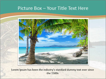 Tropical beach in Costa Rica PowerPoint Templates - Slide 16