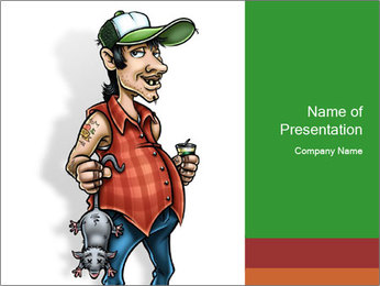 Painted man caricature PowerPoint Template - Slide 1