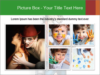 Painted man caricature PowerPoint Template - Slide 19